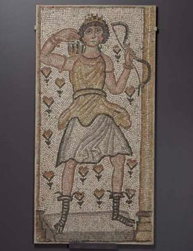 Floor mosaic Artemis and her bow