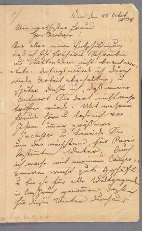 Autograph letter in German to Theodor Döhler