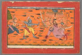 Rama Battles with Ravanna