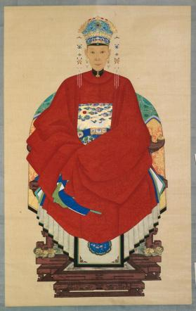 "Hanging scroll of ""female ancestor portrait"""