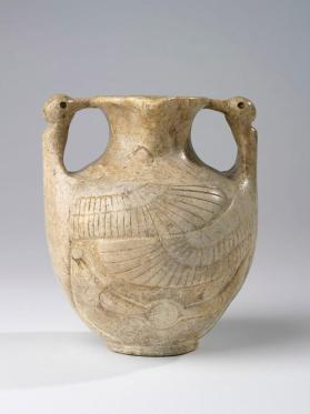 Jar with bird-headed handles