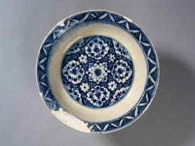 Dish with medallion design