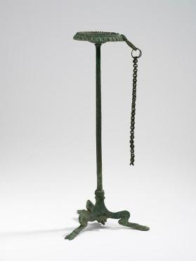Thymiaterion (incense burner) with tripod base, chain probably for tongs