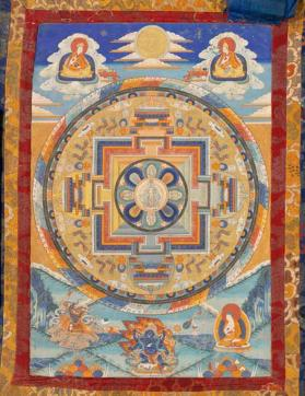 Thangka painting  of Eleven-headed Avalokitesvara Mandala