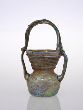 Jar with basket-handle