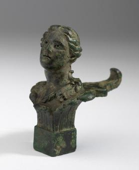 Finial with the bust of a maenad
