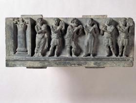 Relief of six figures in Hellenistic dress