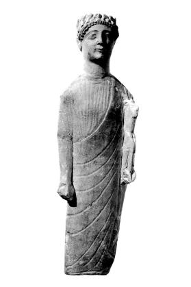 Figure of a draped male votary