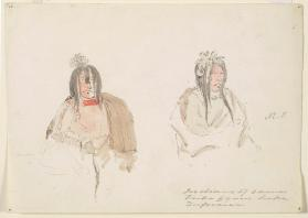 """Two Figure Studies,"" Assiniboin and Saulteaux"