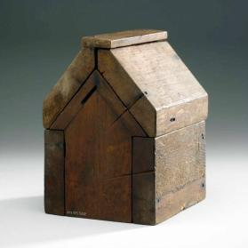 Maple sugar mould in the shape of a house