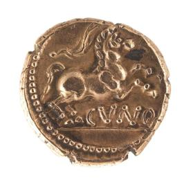 Stater coin of Cunobelin with ear of wheat
