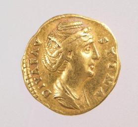 Aureus of Faustina I minted after her death by Antoninus Pius