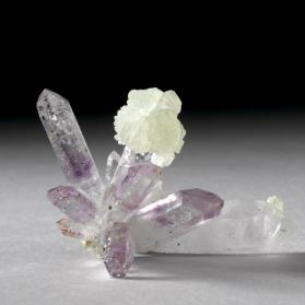 quartz variety amethyst with prehnite