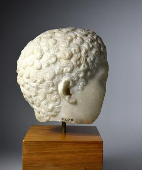Head of an athlete, from a fragmentary figure