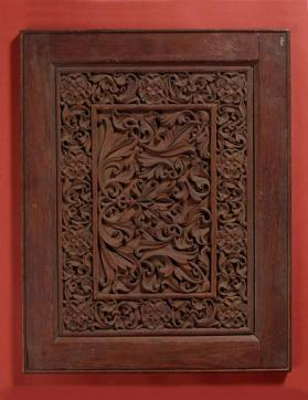 Decoartive panel with vegetal decoration