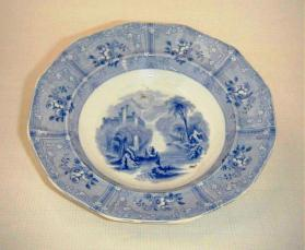 "Soup plate in ""Ontario Lake Scenery"" pattern"