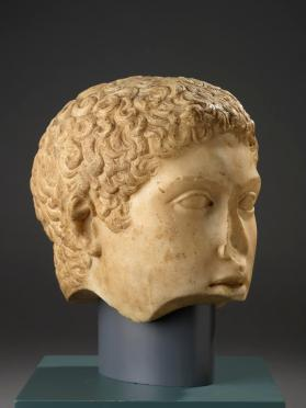 Head of a Greek god or an athlete