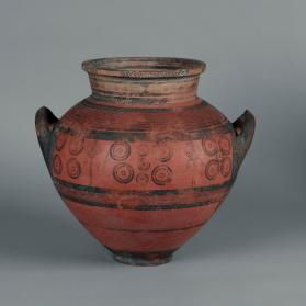 Large krater of Black-on-Red ware