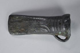 Looped socketed axe-head with ribbed decoration