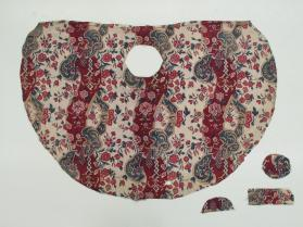 Fragment of lining of a woman's straw hat