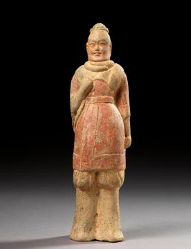 Burial figure of a military attendant