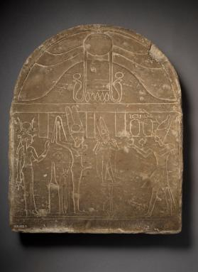 Stele of Min, Aperetset and Kolanthes