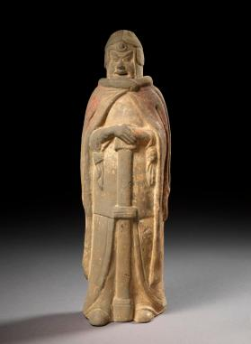 Burial figure of a warrior