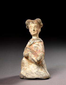 Burial figure of a female servant with a baby