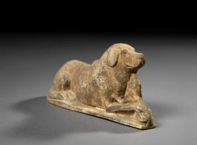 Burial figure of a dog and puppy