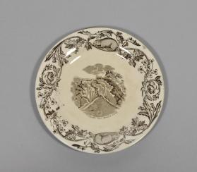 "Plate in ""Quebec"" pattern with scene ""Montmorency Fall"""