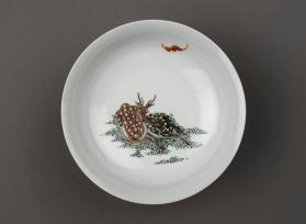 Dish with Deer and a Bat