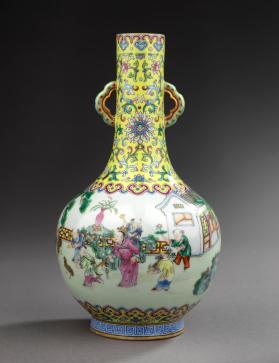 Vase with New Year scenes