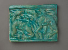 Tile with camels
