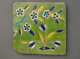 Tile with flowers