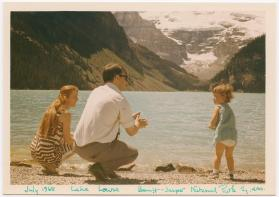 Ann, Peter, and Madeline at Lake Louise in Banff-Jasper National Park