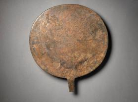 Mirror inscribed with name of priestess of Hathor