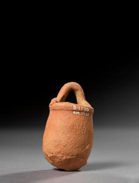 Miniature basket-shaped vessel
