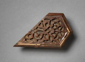 Plaque with deep-cut arabesque design