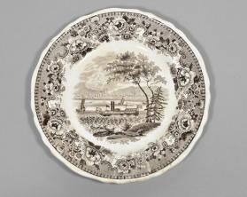 "Plate in ""Montreal"" pattern"