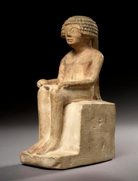 Statuette of a seated male