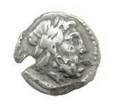 Achaian League hemidrachm with laureate head of Zeus, laurel wreath on reverse side