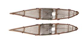 Snowshoes with six crossbars