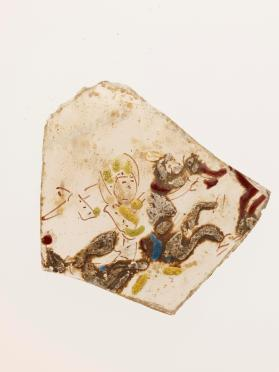 Vessel fragment (sherd) with horse and rider