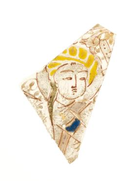 Vessel fragment (sherd) with man with turban