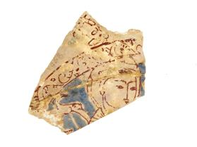 Vessel fragment (sherd) with man with halo