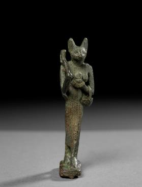 Statuette of standing cat, Bastet