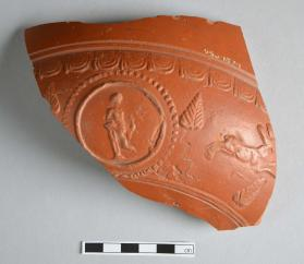 Large fragment from the body of a Samian ware bowl