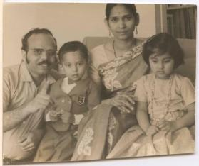 The Biman family at home