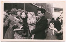 Lim family with a small monkey at Petticoat Lane Market
