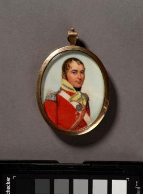 Portrait miniature of a British Army Officer